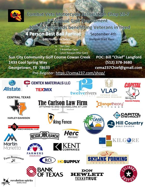 CVMA 23-7 3rd Annual Charity Golf Tournament