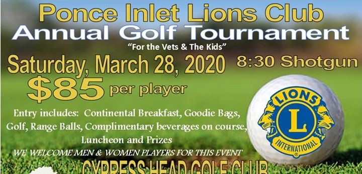 Ponce Inlet Lions Club presents their Annual Golf Tournament