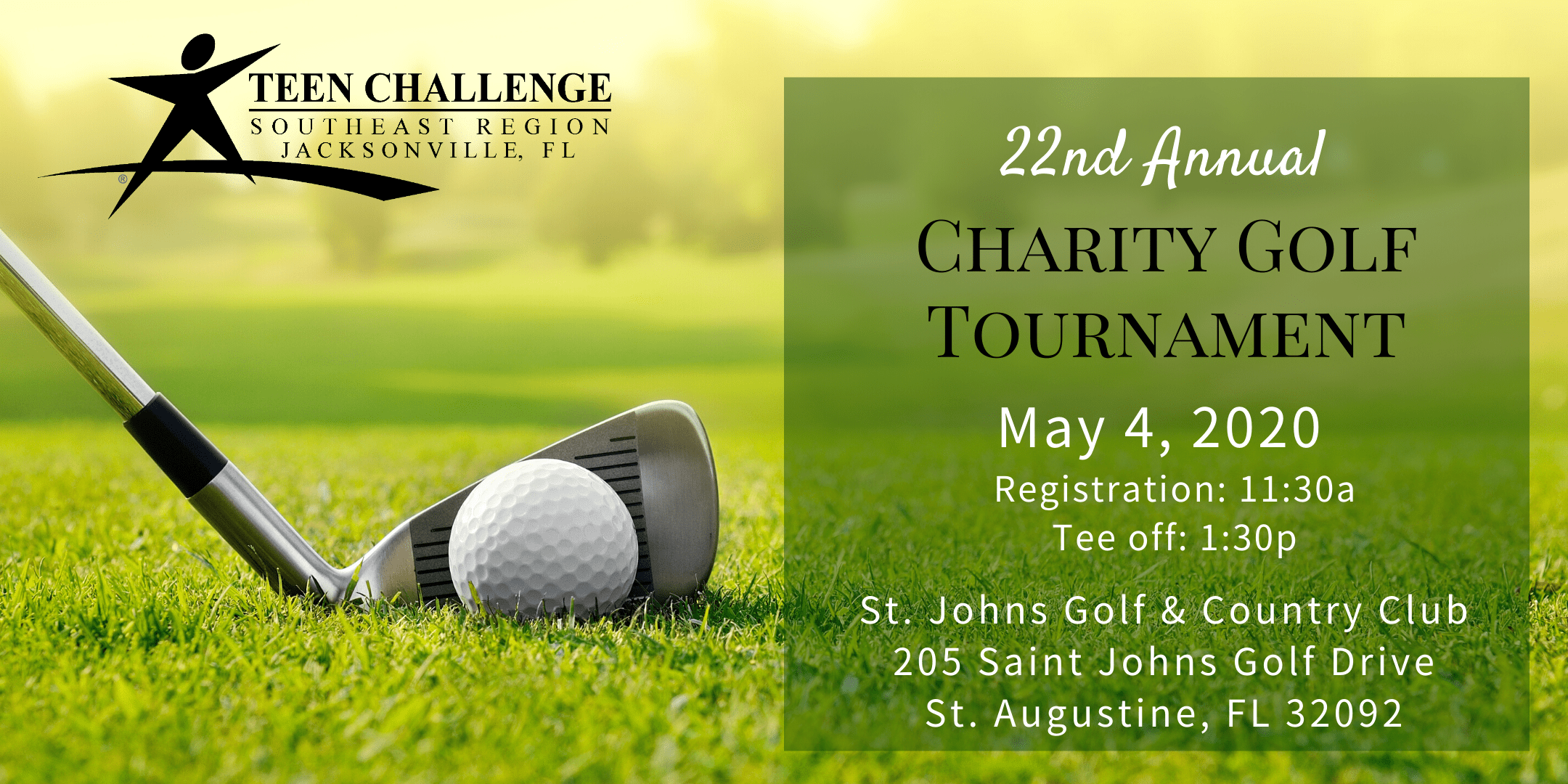 Teen Challenge Jacksonville 22nd Annual Charity Golf Tournament