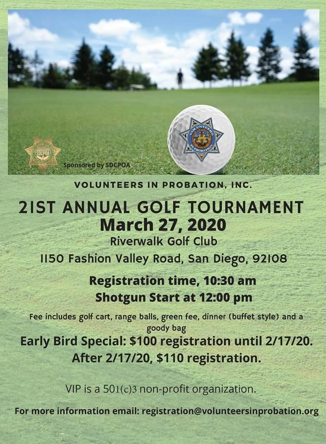 21st Annual Volunteers In Probation, Inc. Golf Tournament