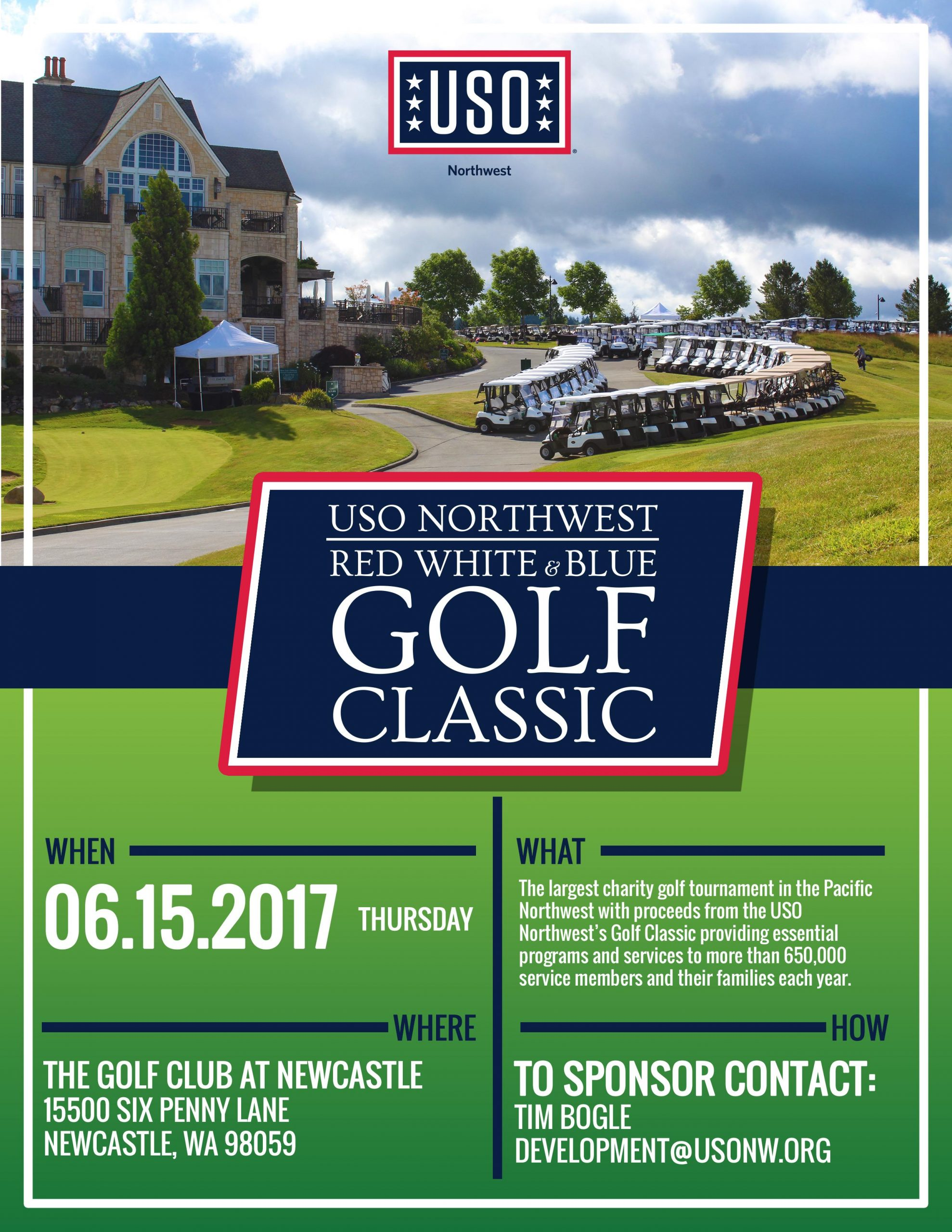 Volunteer Signup - 2020 Red, White, & Blue Golf Classic