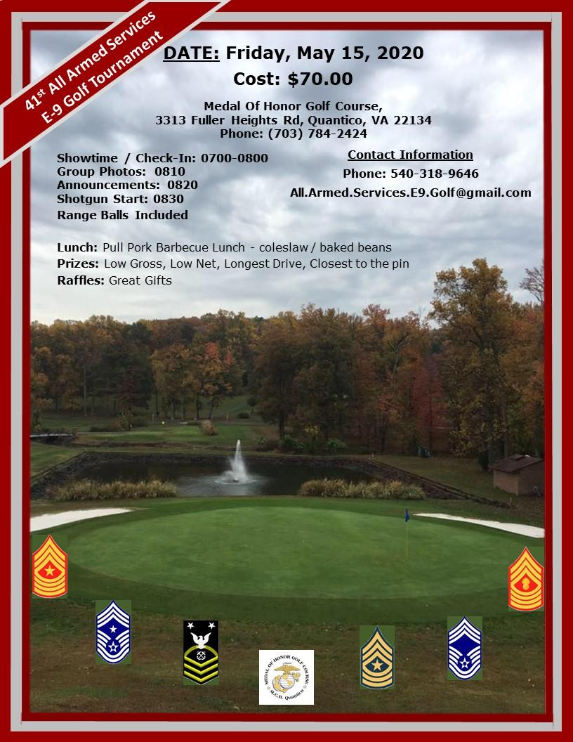 41st All Armed Services E-9 Golf Tournament