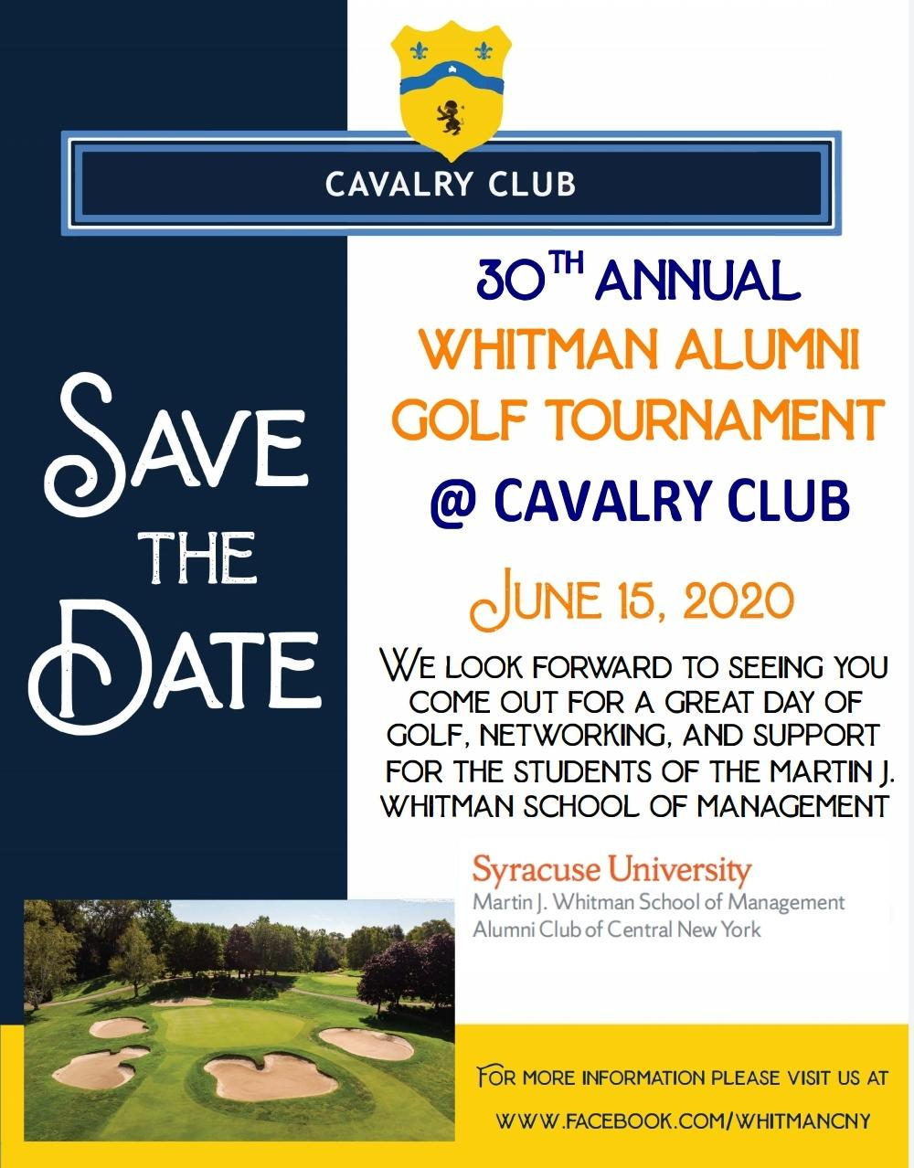 30th Annual Whitman School of Management Golf Tournament