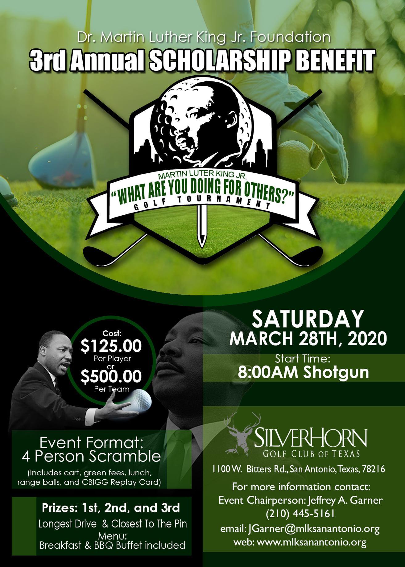 MLK Golf Tournament -Sponors