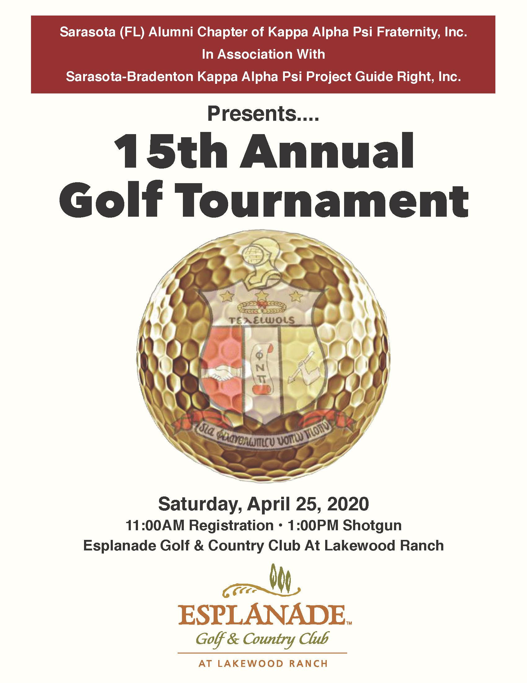 15th ANNUAL KAPPA ALPHA PSI FRATERNITY GOLF TOURNAMENT