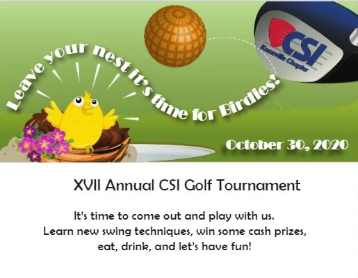 XVII Annual CSI Golf Tournament