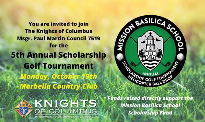 5th Annual Scholarship Golf Tournament for MBS