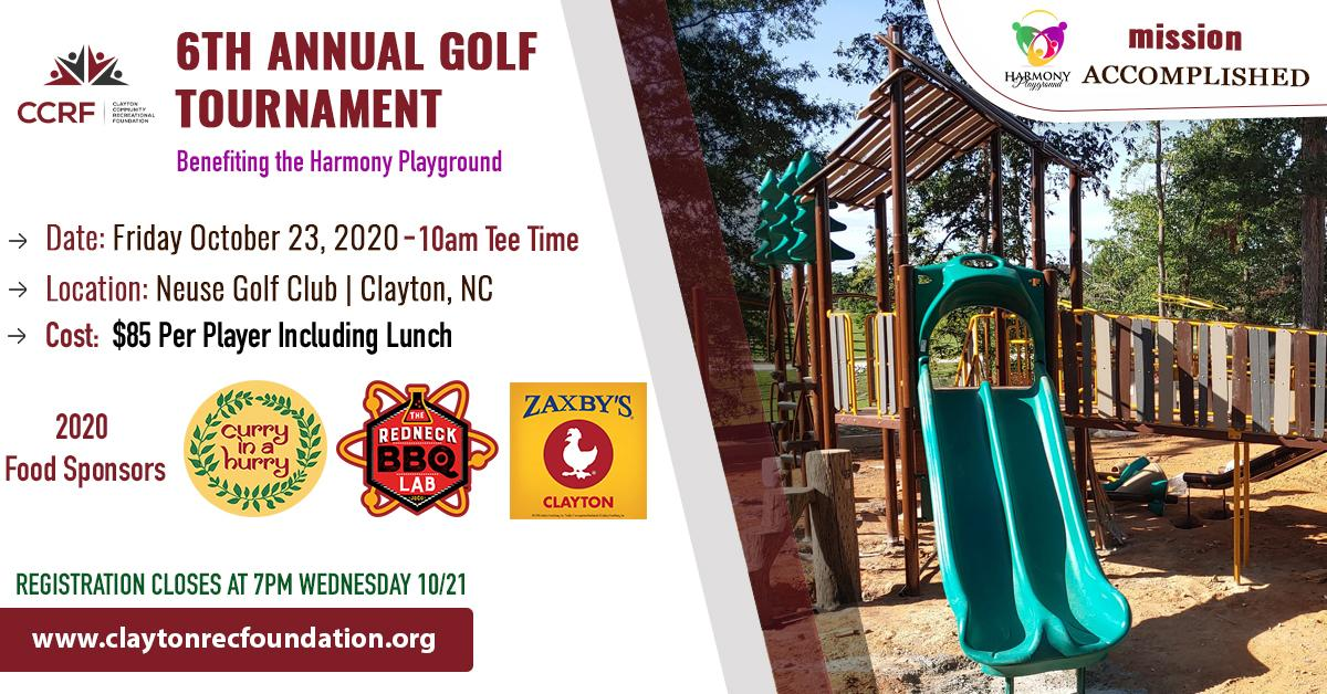 6th Annual Golf Tournament Benefitting the Harmony Playground