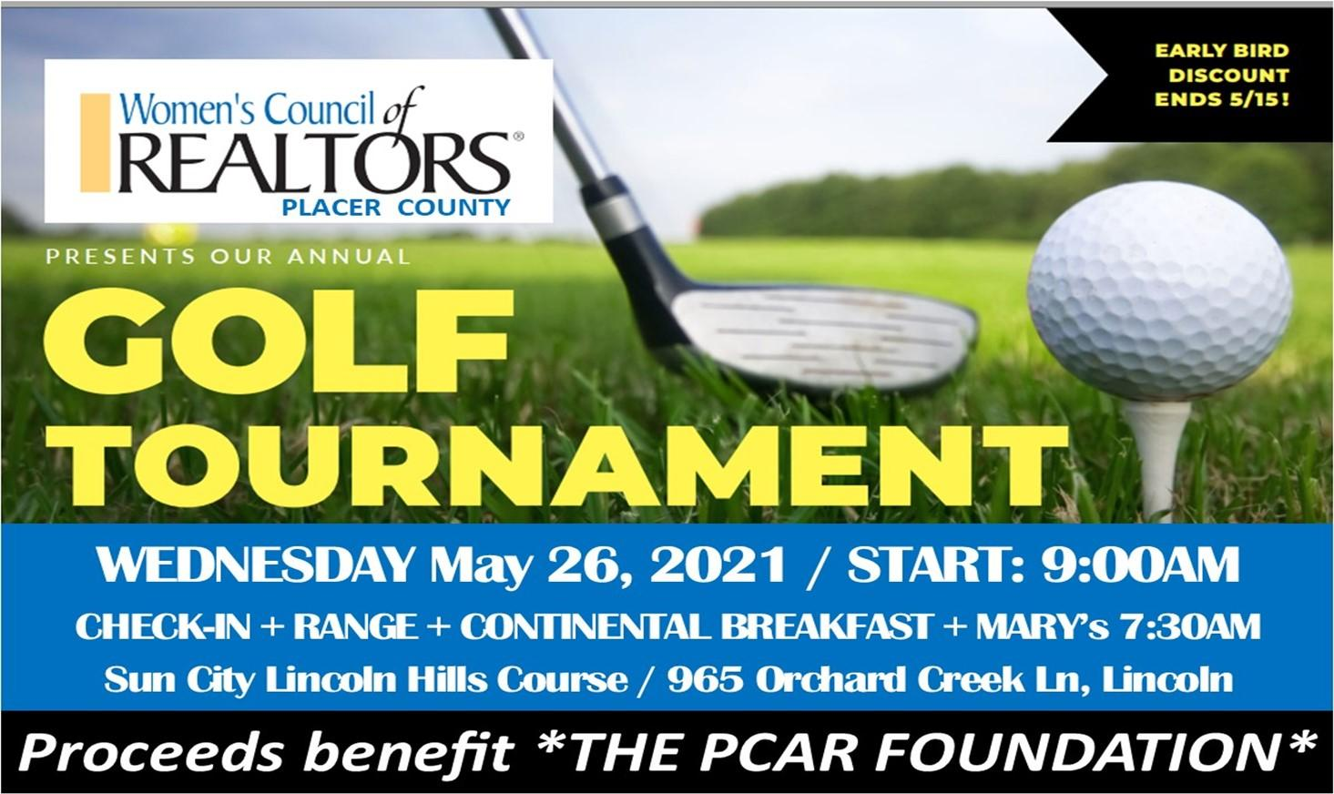 2021 Annual WCR Placer Golf Tourney