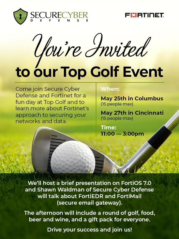 Secure Cyber Defense Cincinnati Top Golf Event