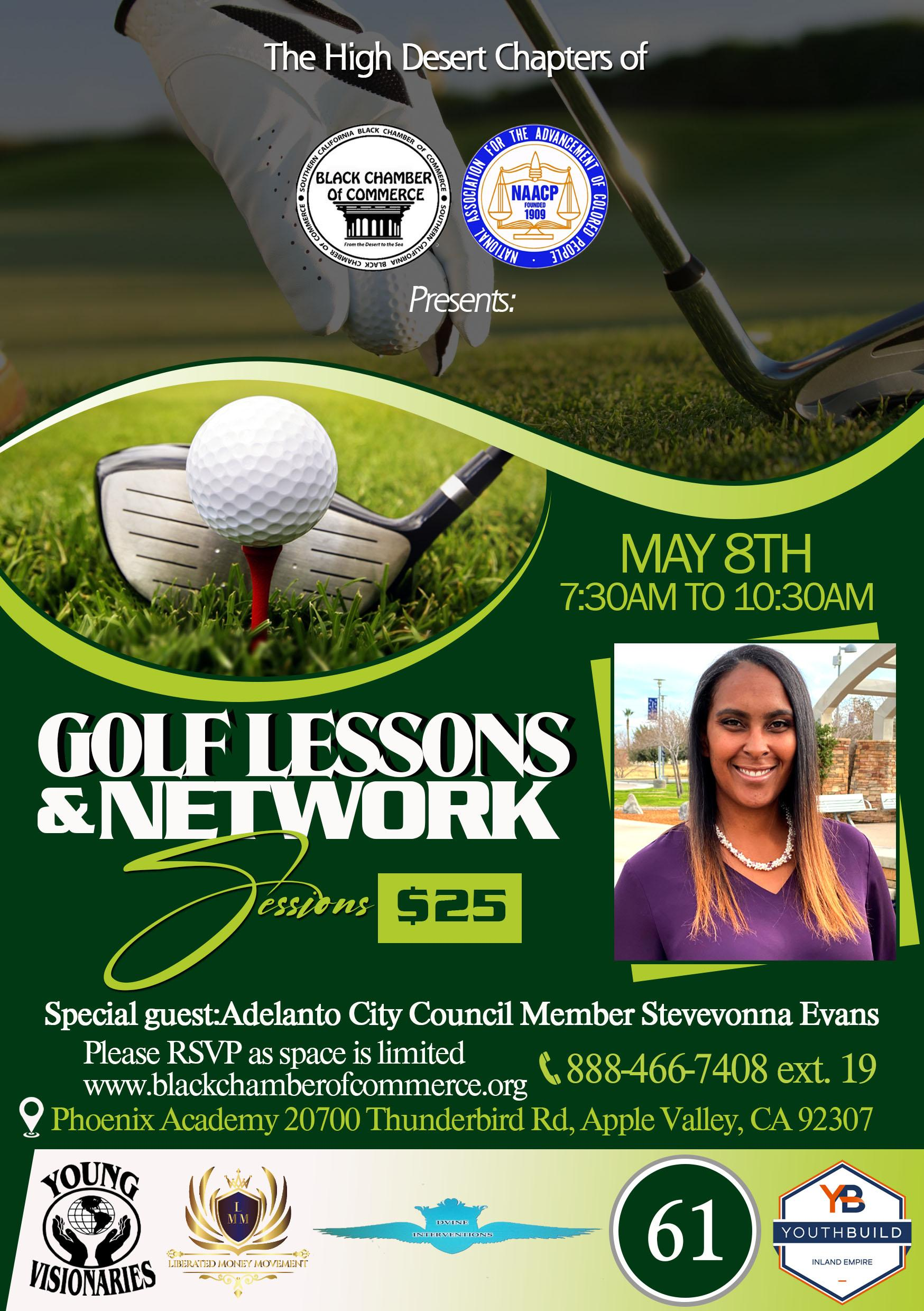 Golf Lessons and Network Sessions