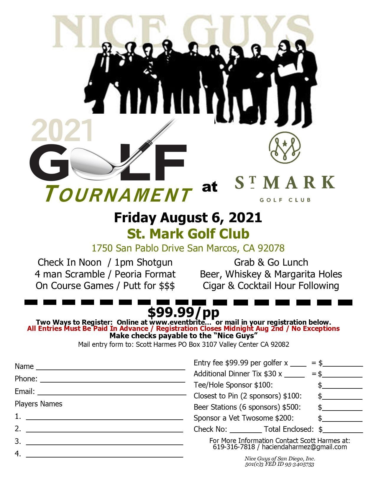 Nice Guys Golf Tournament 2021