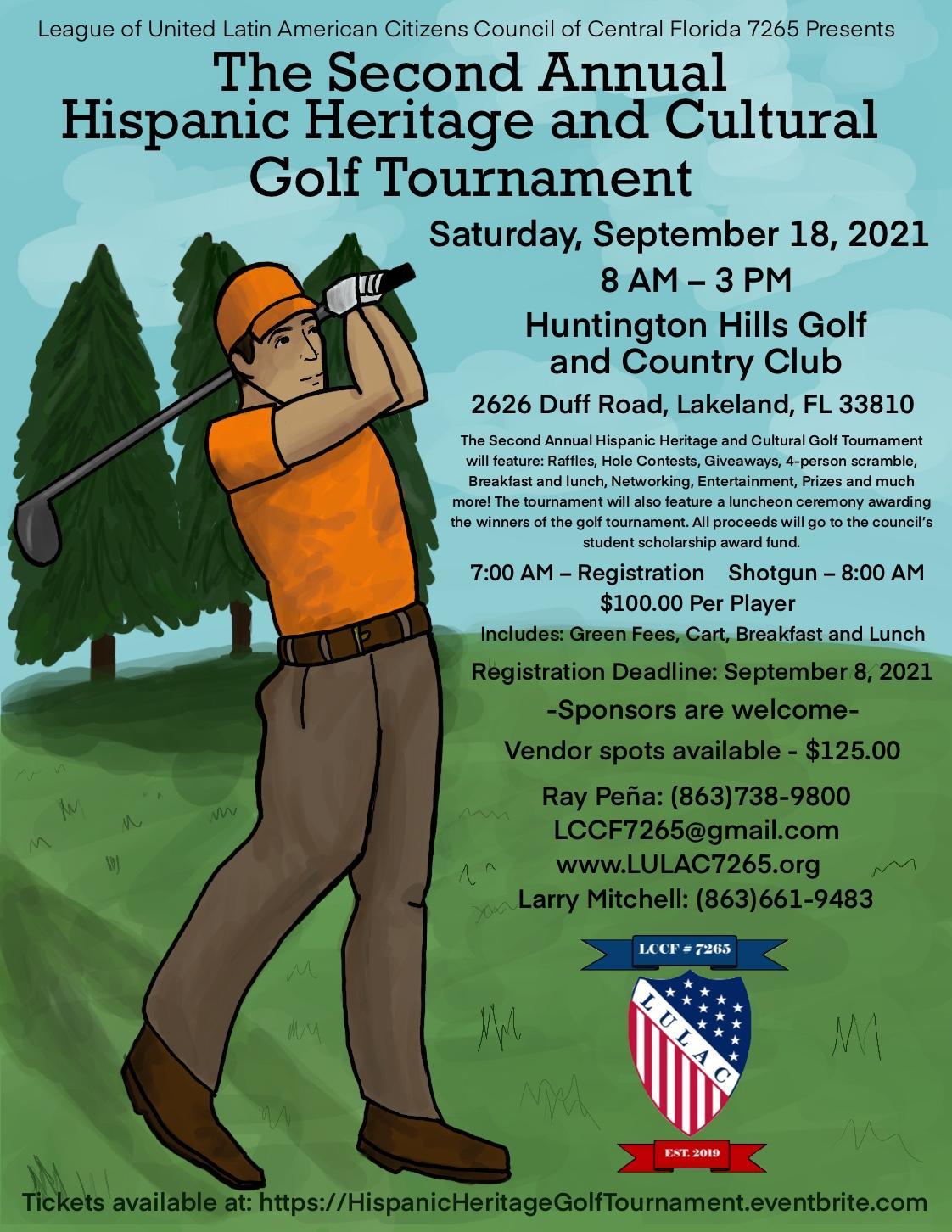 2nd Annual Hispanic Heritage & Cultural Golf Tournament