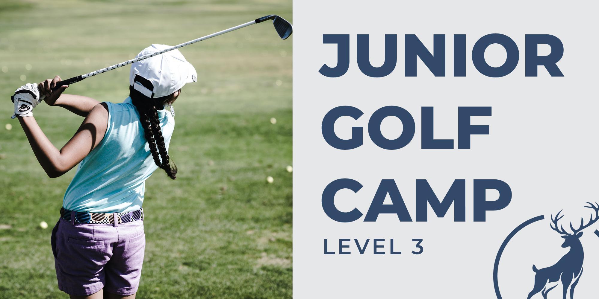4 Day Junior Golf Camp - $135 - Level 3