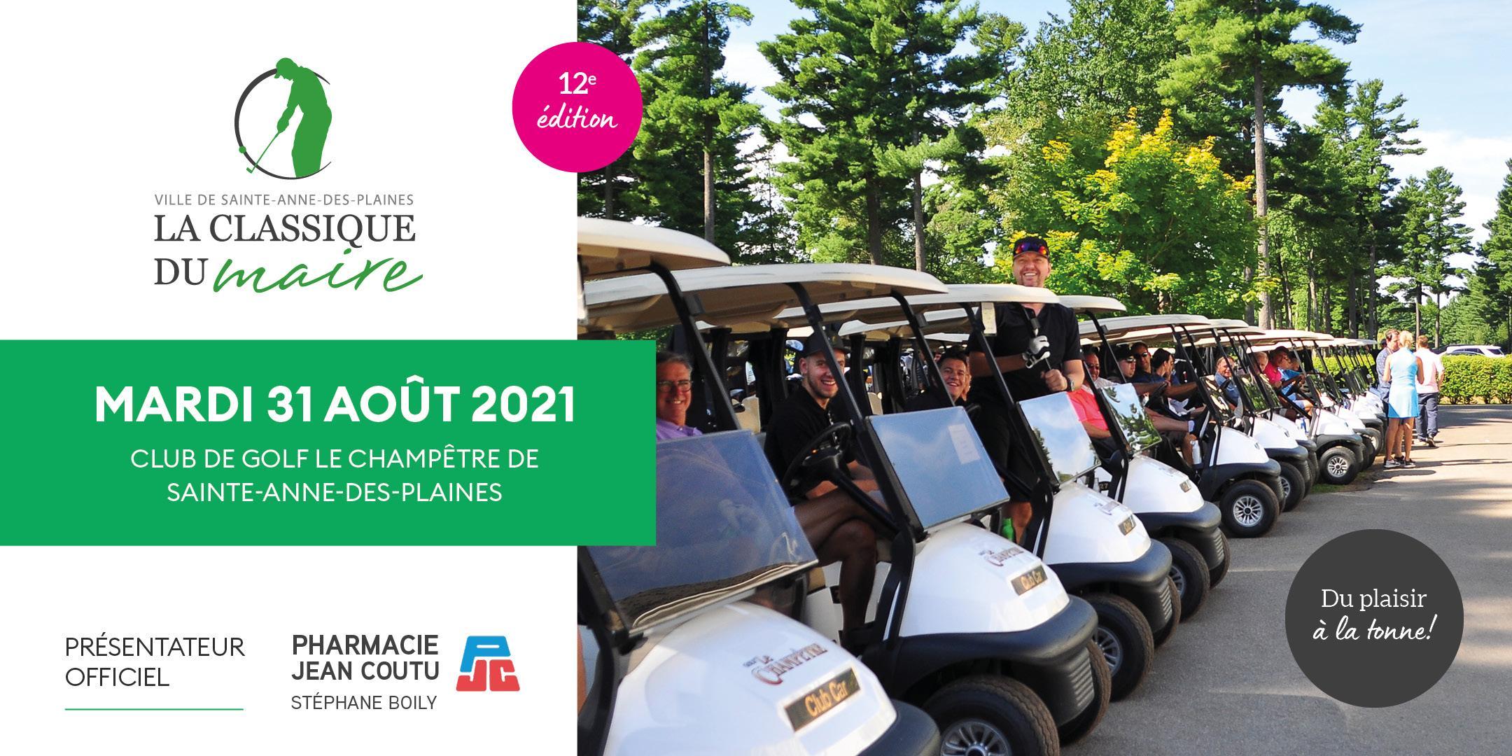 Tournoi de golf de la Classique du Maire - Édition 2021