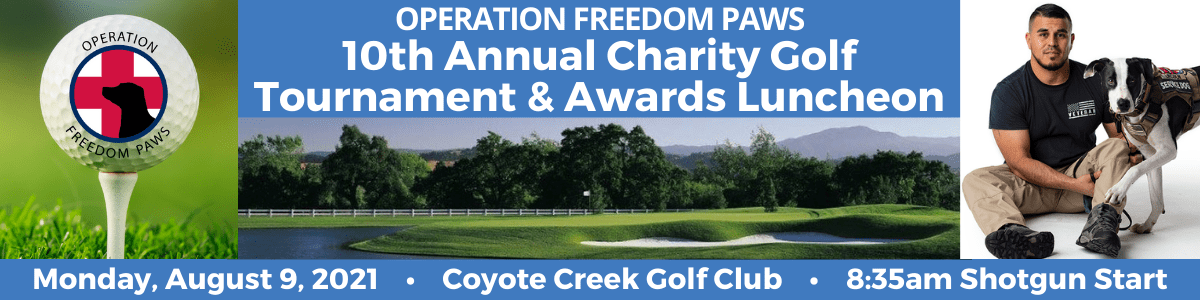 Operation Freedom Paws 10th Annual Charity Golf Tournament and Awards Luncheon