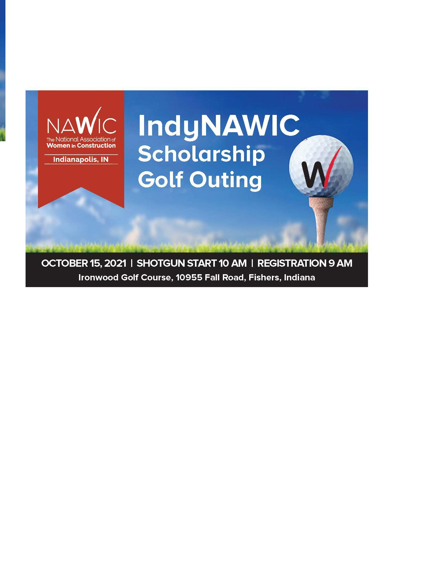 IndyNAWIC 2021 Scholarship Golf Outing