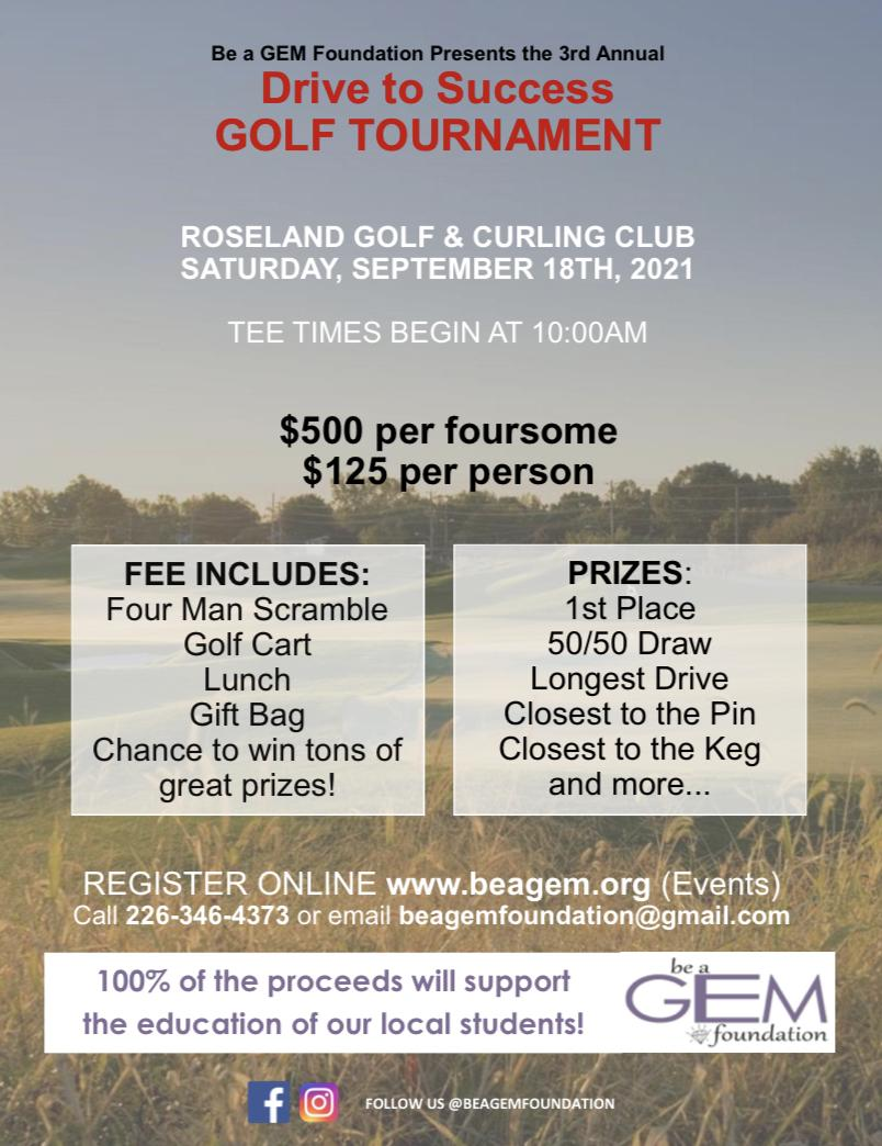 2021 Drive to Success Golf Tournament