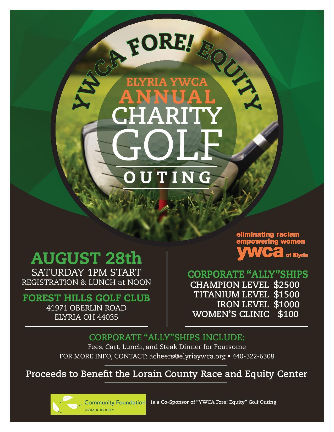 YWCA FORE! EQUITY ANNUAL CHARITY GOLF OUTING