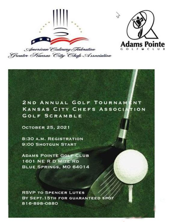 2nd Annual ACF Greater Kansas City Chefs Charity Golf Tournament
