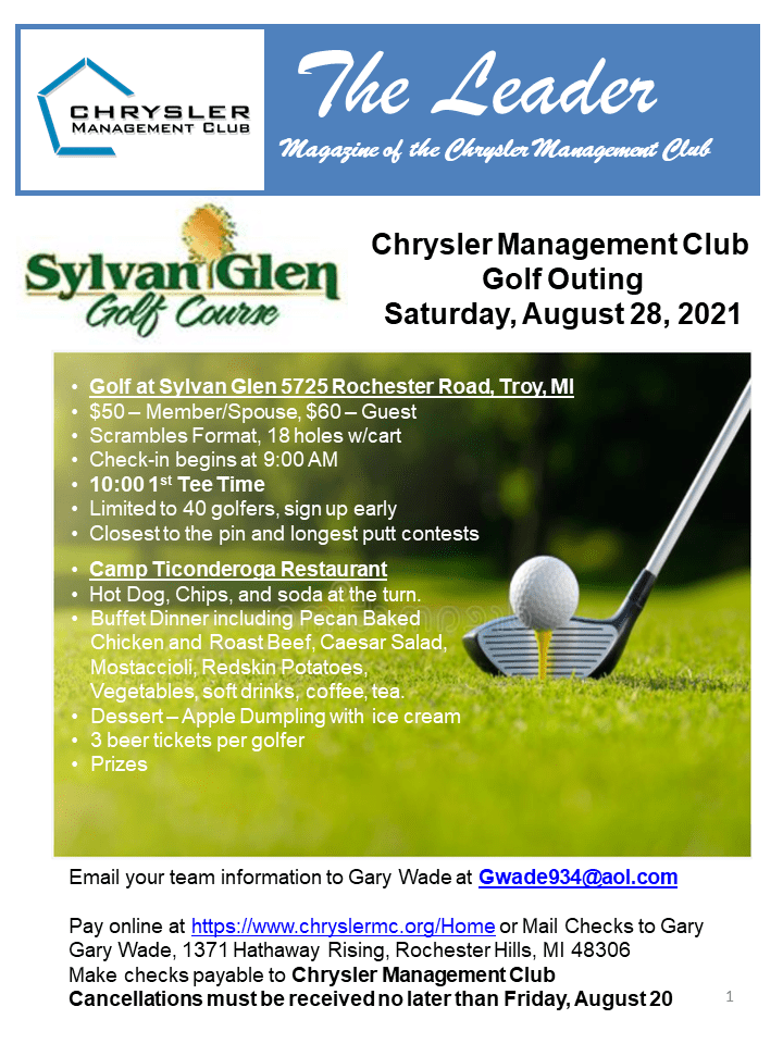 Chrysler Management Club Golf Outing