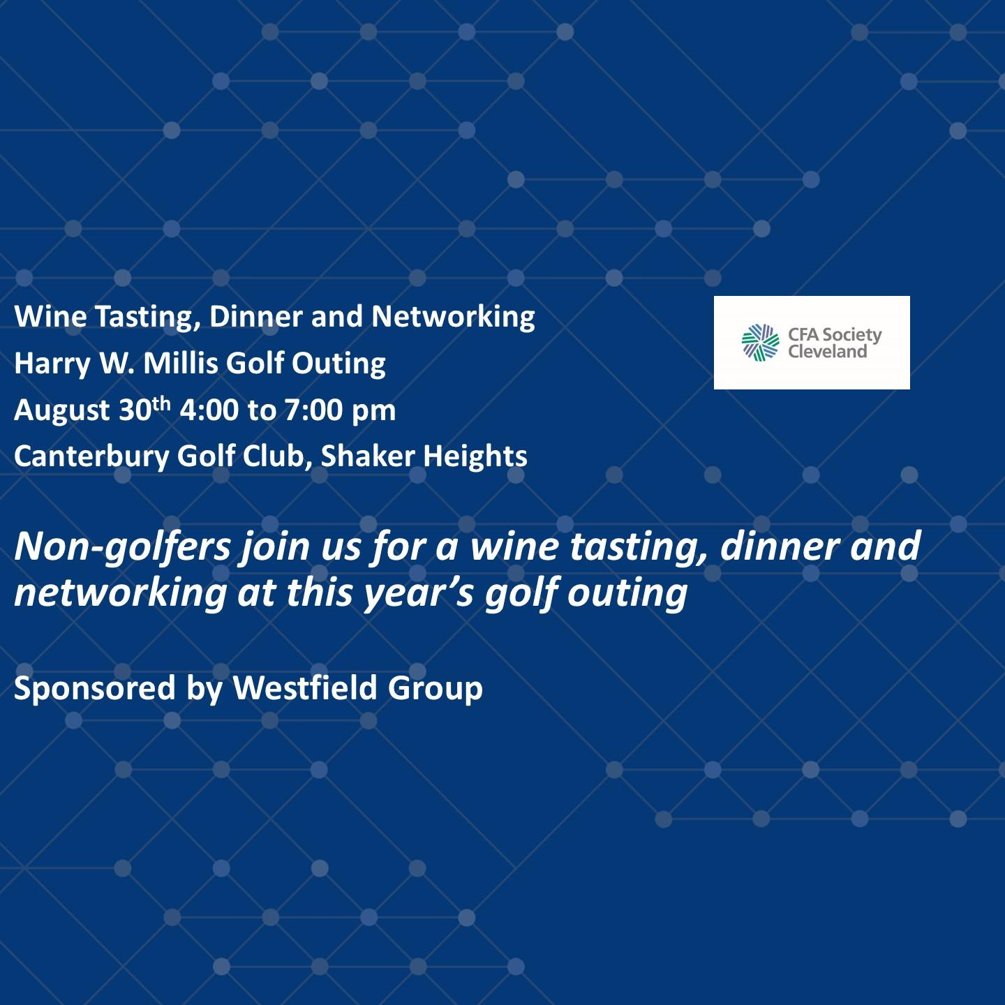 Wine Tasting and Dinner for Non-Golfers at CFA Cleveland Golf Outing