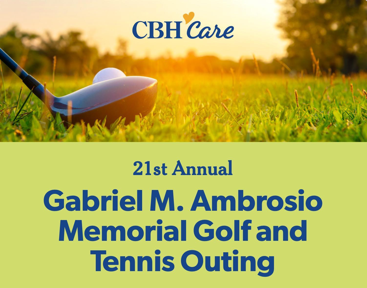 Gabriel M. Ambrosio Memorial Golf & Tennis Outing