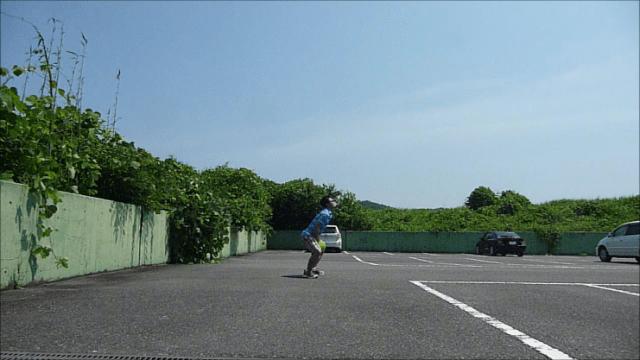 メディシンボール投げ横③