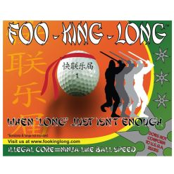 Foo King Golf Ball Box Front View