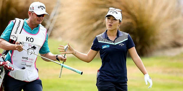 Lydia Ko is enjoying her week at the 2016 New Zealand Women's Open.