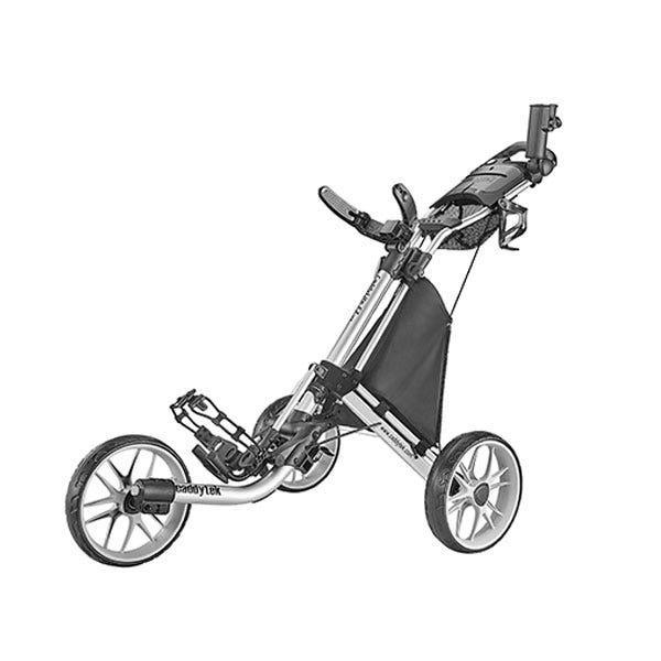 Caddytek EZ TOUR Quickfold Golfvagn med 3 Hjul - Silver