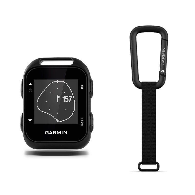 Garmin Approach G10 Clip-On Golf GPS Device + Karbinhake med rem