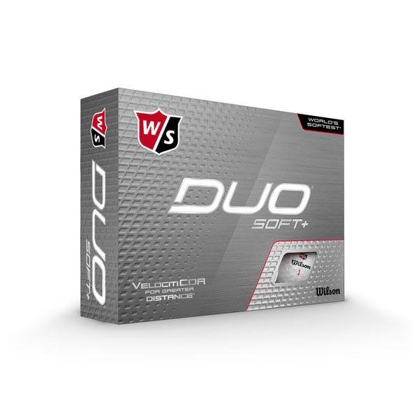 Wilson Staff DUO SOFT+ Golf Balls 12 Pack White