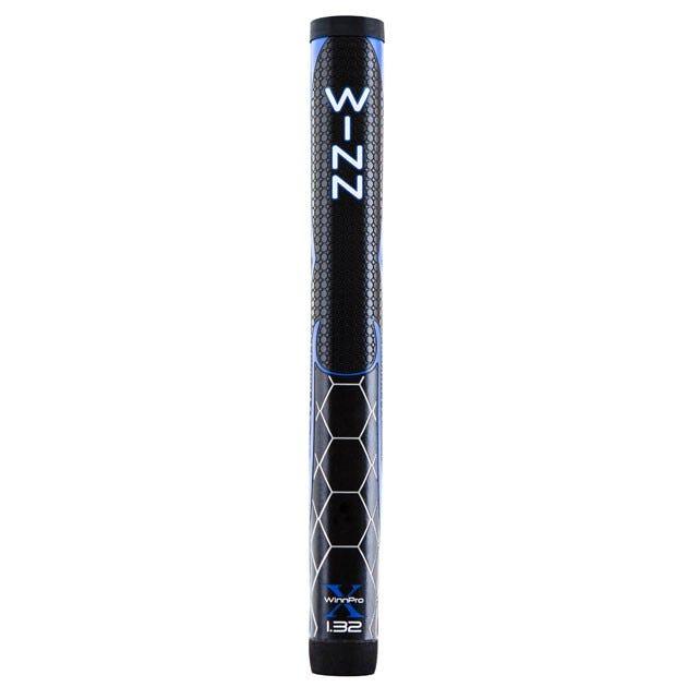 """Winn Pro X 1.32"""" Jumbo Black/Blue Paddle Putter Golfgrepp"""