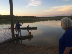 Manning a checkpoint for the Texas Water Safari, the world's TOUGHEST canoe race!