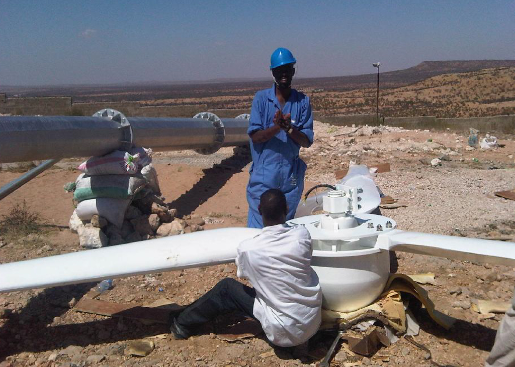 Abaarso Tech Wind Turbine Installation 20kw