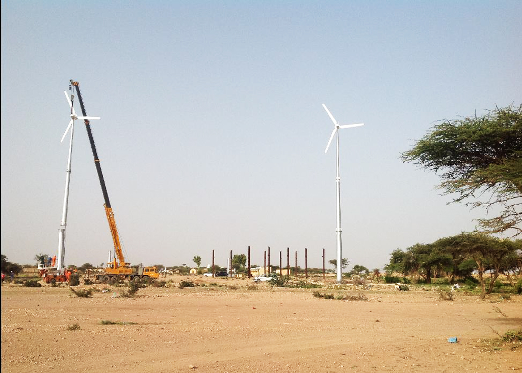 Installation of wind turbines in Egal airport 100kw and Berbera airport 60kw