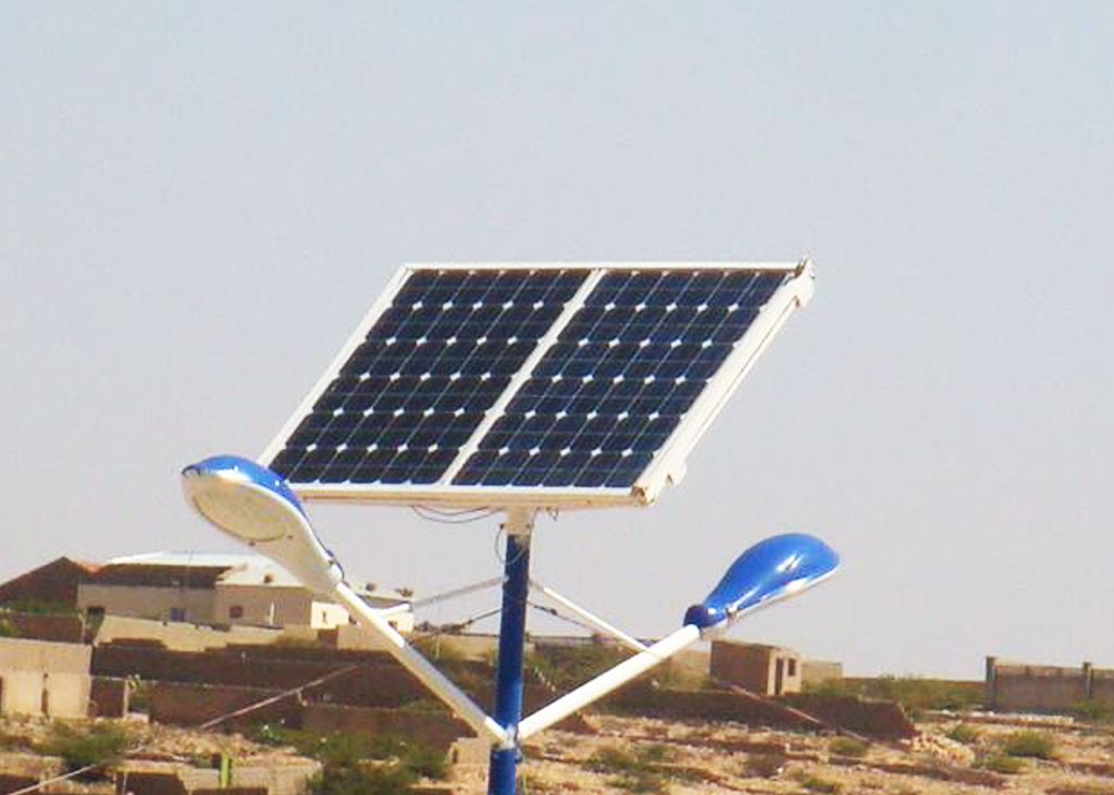 Solar street light at Sacadadin Business Hargeisa