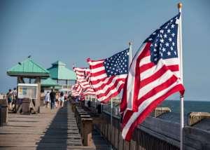 myrtle-beach-pier-american-flag