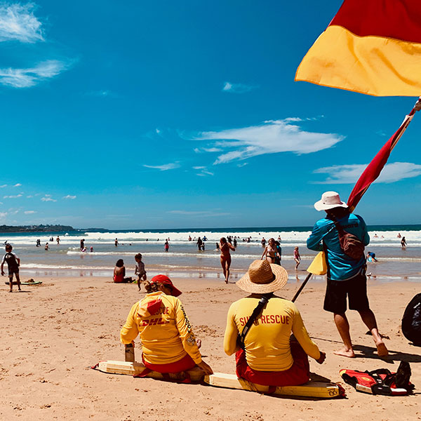 Lifeguards on Manly Beach