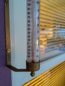 25 degrees F below zero!
