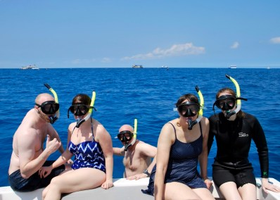 A group shot after snorkeling