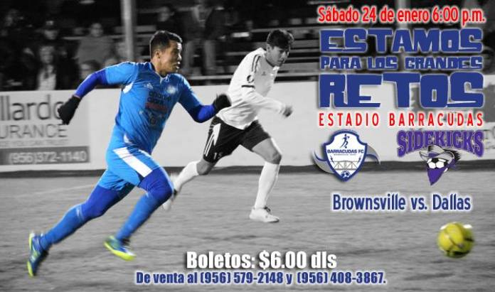 Dallas at Brownsville in MASL soccer Jan 24th
