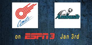 MASL in Missouri on ESPN3 Jan 3rd Comets at Ambush GOTW