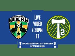 Michigan Bucks advance to play Portland Timbers 2 (USL) in Round 2 7:30pm ET