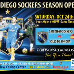 MASL Season Opener: Sonora at San Diego Sat, Oct 24 7:05 pm PT watch live streamed soccer games