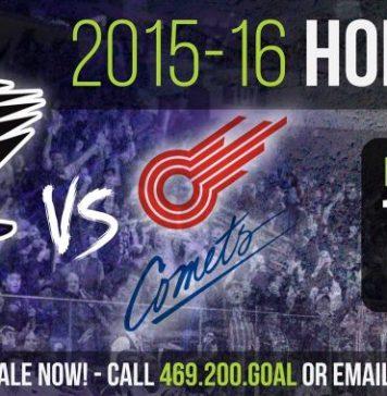 MASL arena soccer: Missouri Comets at Dallas Sidekicks Nov 13th