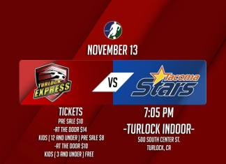 MASL West Division: Tacoma at Turlock Fri, Nov 13th 7:05pm PDT watch live video streaming of MASL soccer