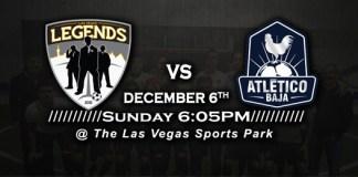 MASL West: Atletico Baja at Las Vegas Legends 7:05pm PT on Dec 6th