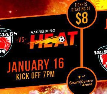 watch live on Roku MASL Central: Harrisburg Heat at Chicago Mustangs Jan 16th 7:05pm CT